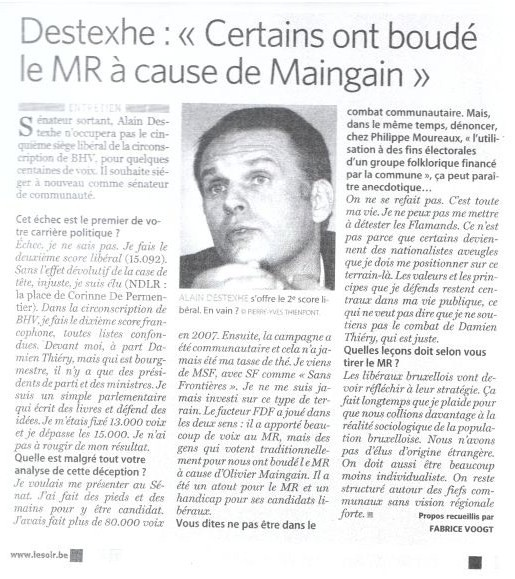 Interview.Le Soir.15.06.2010